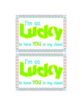 Back to School Lucky Charms Cereal Snack Tag