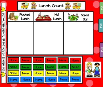 Back to School Lunch Count and Attendance for SMARTboard