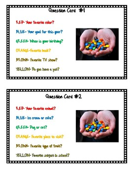 Back to School M&M Icebreaker Activity