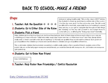 Back to School-MAKE A FRIEND