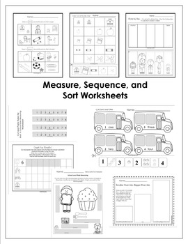 Back to School - MEASURE, SEQUENCE, AND SORT Activity Pack