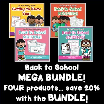 Back to School MEGA BUNDLE! {Getting to Know You, Reading, Writing & Science}