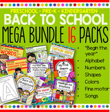Back to School MEGA BUNDLE Preschool Pre-K - 16 Activity Packs
