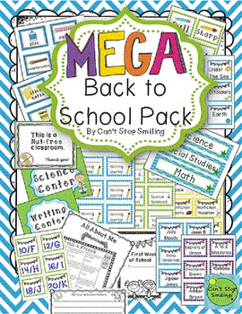 Back to School MEGA Pack with Labels and MORE