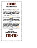 Back to School M&M Survival Poem