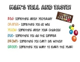 Back to School- M&M's Get to know you Game