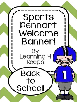 """Back to School """"MVP Sports!"""" Pennant Welcome Banner!"""