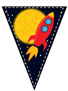 """Back to School """"Final Frontier"""" Space Pennant Welcome Banner!"""