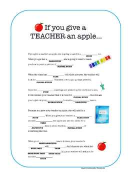 Back to School Mad Libs *INTERACTIVE* Google Slides & printables