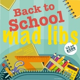 Distance Learning Mad Libs *INTERACTIVE* Google Slides & p