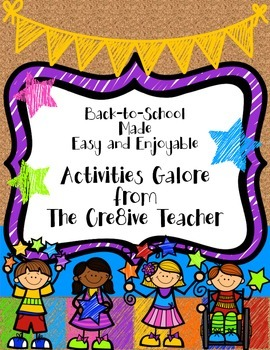 Back to School Made Easy and Enjoyable-Activities Galore!