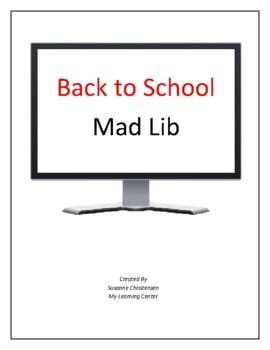 Back to School Madlib