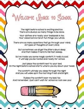 Back to School Magic Confetti (School Theme)