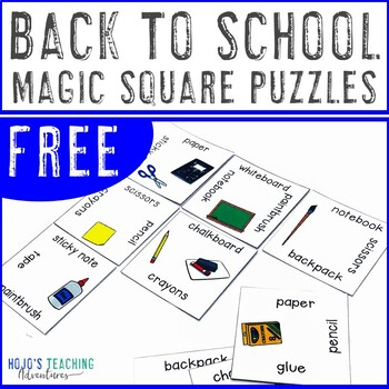 FREE Back to School Game
