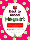 Back to School Magnet (1st Grade)