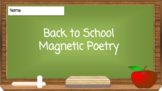 Back to School Magnetic Poetry