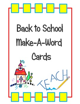 Back to School Make-A-Word