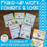 Make-Up Work & Missing Work Folders, Reminders, and Get Well Cards Llama Theme