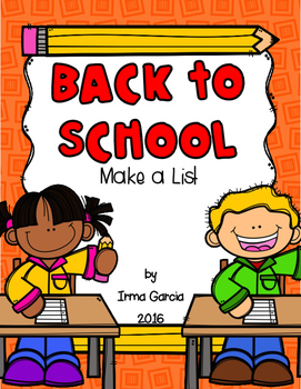 Back to School - Make a List