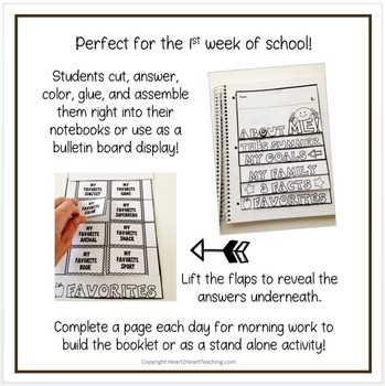 Back to School Flip Book - All About Me