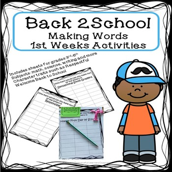 Back to School- Making Words Activity
