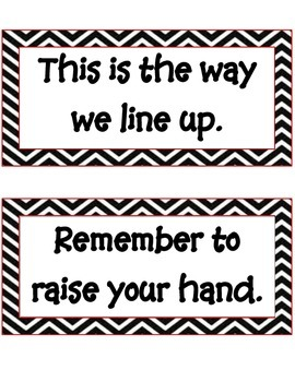 Back to School Behavior Management Charts for the Classroom Chevron Style