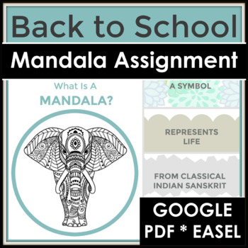 Back to School Introduction with a Mandala & Writing Assignment