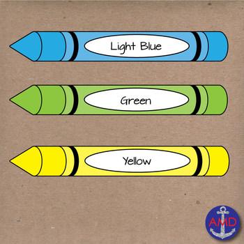 Back to School Crayons- Clip Art School Supplies- Crayola Crayons