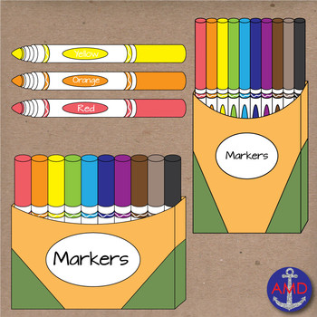 Back to School Markers- Clip Art School Supplies- Crayola ...Crayola Markers Images Clipart