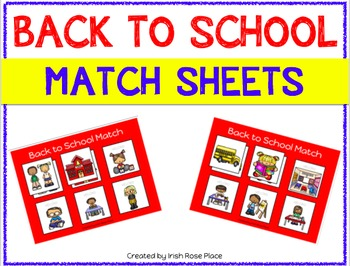 Back to School Match Sheets