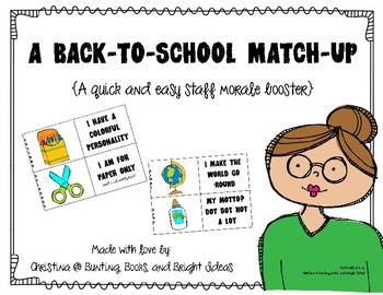 Back-to-School Match-Up Morale and Community Building for Staff