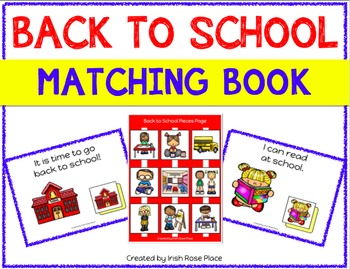 Back to School Matching Book (Adapted Book)