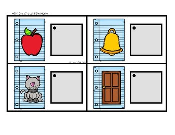 Back to School Matching Cards for Letters and Sounds