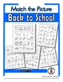 Back to School Matching - Print, Answer & Color Worksheets