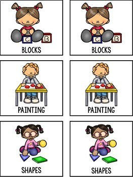 Back to School Matching for Preschool, Prek, and Kindergarten