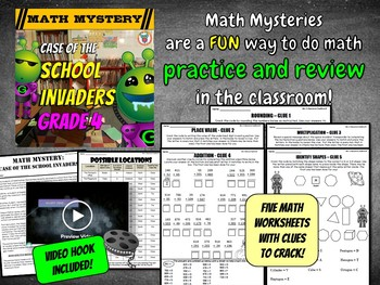 4th Grade Beginning of the Year, Back to School Math Activity (3rd Grade Review)