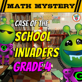 4th Grade Beginning of the Year, Back to School Math Mystery -3rd Grade Review