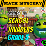 5th Grade Beginning of the Year Distance Learning - Back to School Math Mystery