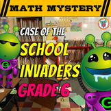 6th Grade Beginning of the Year, Back to School Math Mystery -5th Grade Review