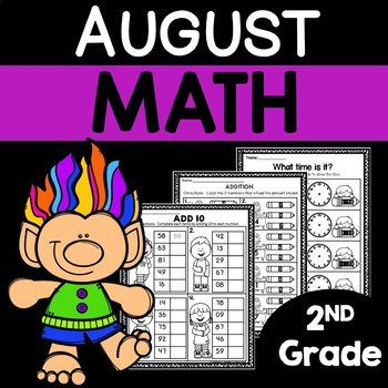August Math Worksheets for 2nd Grade