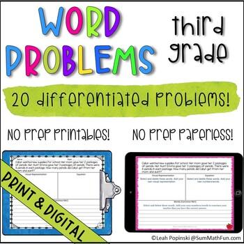 Fourth Grade Multi-Step Word Problems