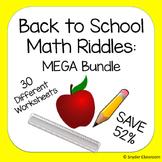 Back to School: Math Riddles MEGA Pack