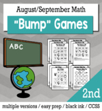 Back to School Math 2nd Grade+ Bump Games Bundle