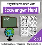 Back to School Math 3rd Grade Scavenger Hunt Game Bundle