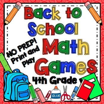 Back to School Math Games - 4th Grade
