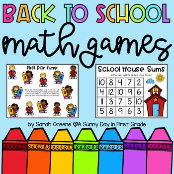 Back to School Math {6 games & activities!}