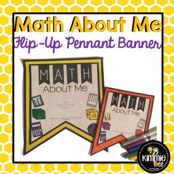 Back to School Math About Me Flip-Up Banner Bulletin Board