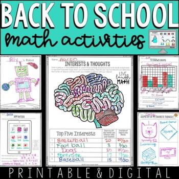 Back to School Math Activities: 12 New Activities