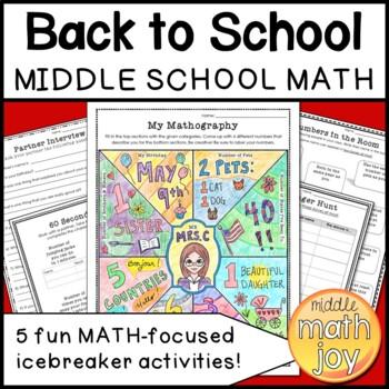 Back to School Math Activities