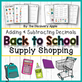 Back to School Math Activities Adding and Subtracting Deci